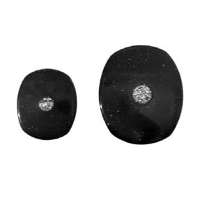 κουμπιά στράς μαύρα